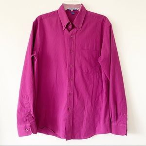 Port Authority Button Down Shirt Pink Size Small